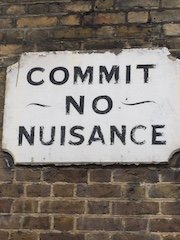Commit No Nuisance, Victorian Warning Sign, London