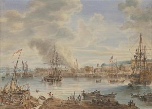 Royal Chatham Dockyard (1790) painting by Nicholas Pocock