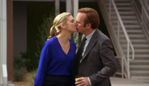 Better Call Saul, Rhea Seehorn & Bob Odenkirk Kissing