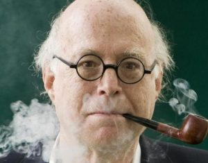 Richard Sennett smokes his pipe
