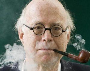 Richard Sennett smokes his pipe