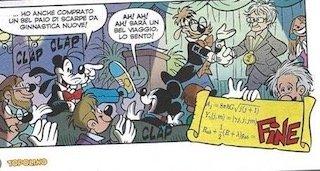Carlo Rovelli in an Italian Disney cartoon