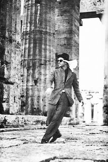 Montgomery Clift in the Ancient Ruins of Paestum, Italy