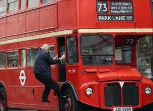Classic London Routemaster Bus, Probably Late