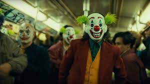 Joker (2019) Clown Protestors on Subway