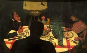 Félix Vallotton, Dinner by Lamplight (1899)