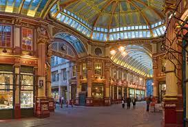 The interior of Leadenhall Market in London